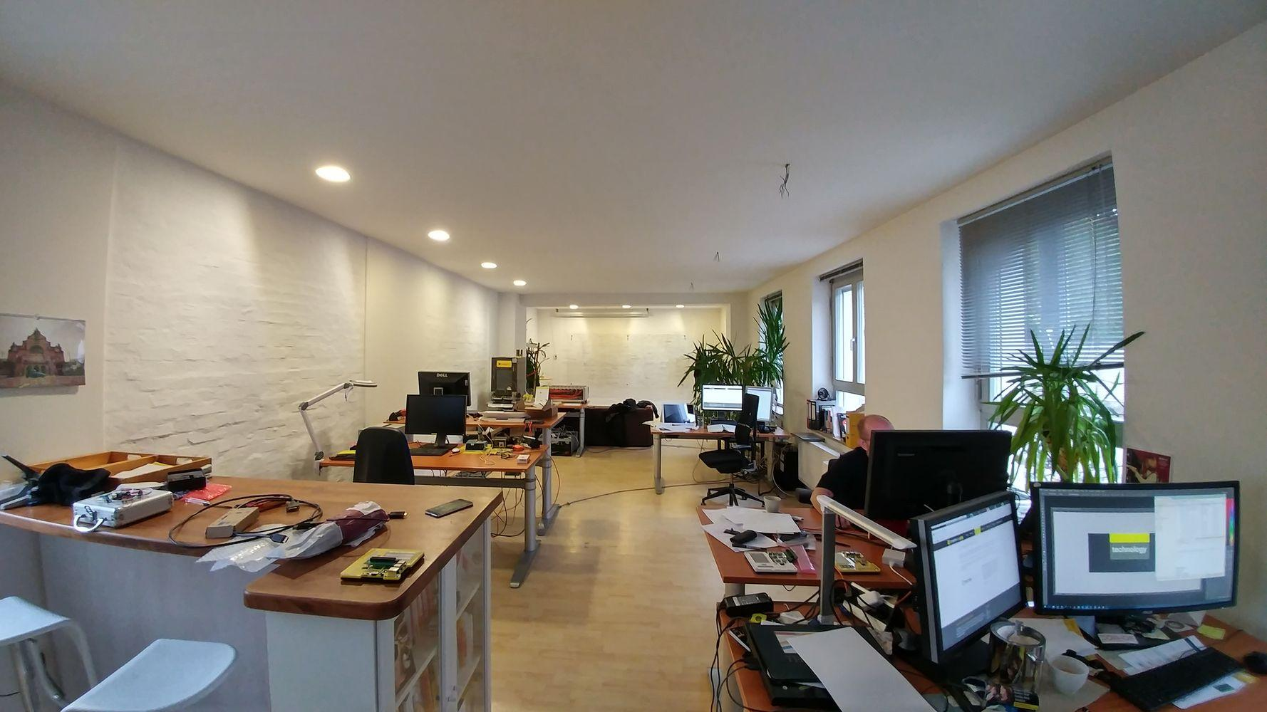 wide-angle photo of the Crossbar.io office in Erlangen