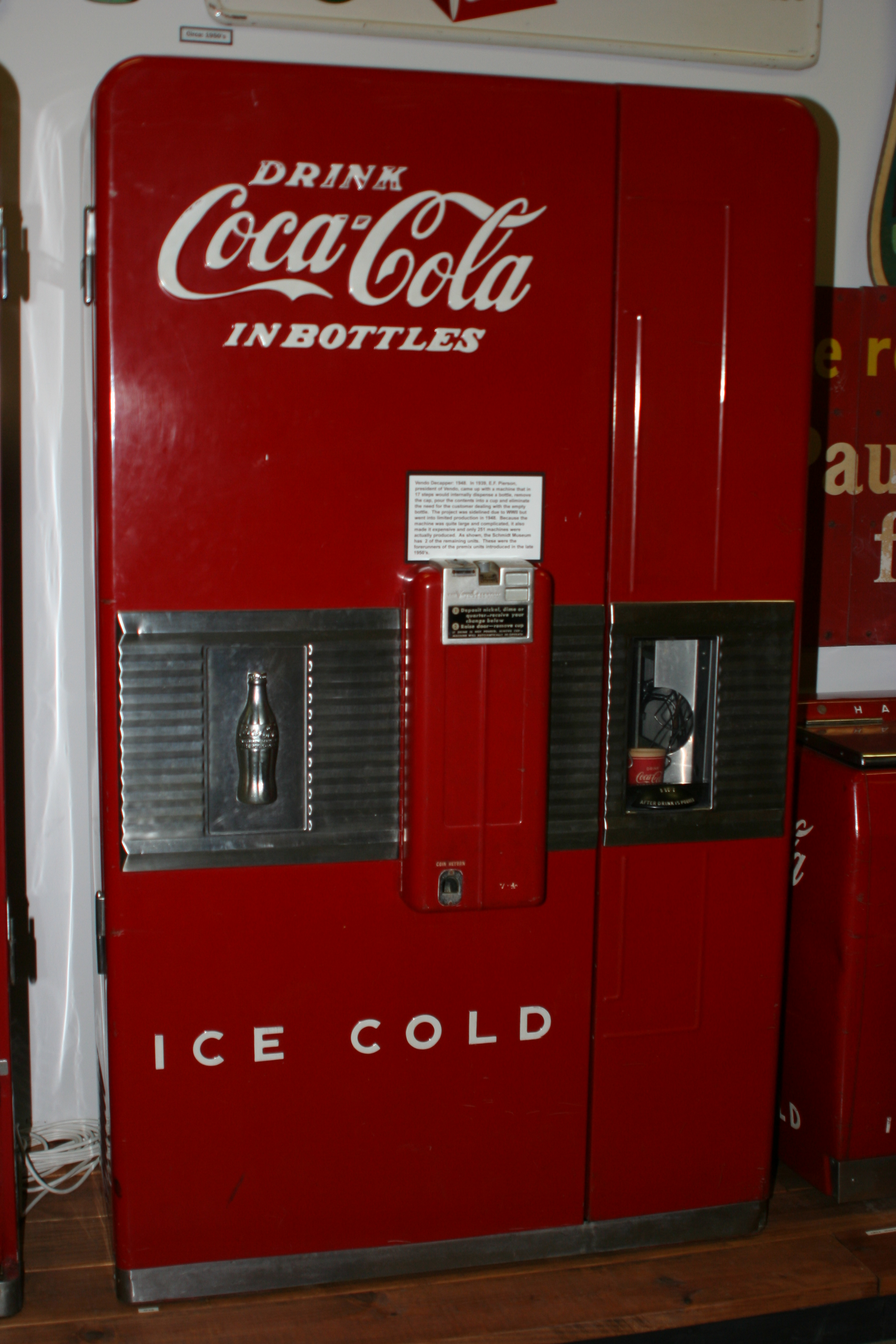 image of really old coke vending machine